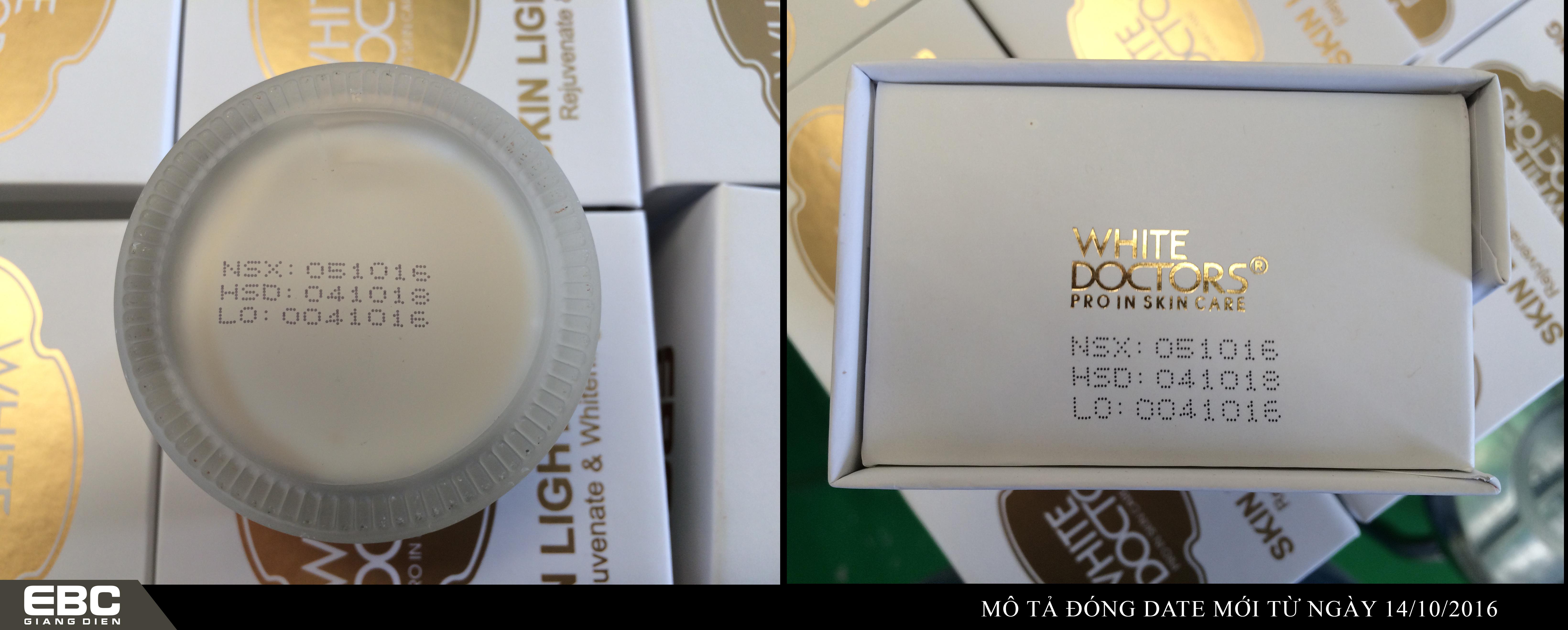 Mỹ phẩm Mai Hân thông báo thay đổi quy cách in date lên sản phẩm White Doctors
