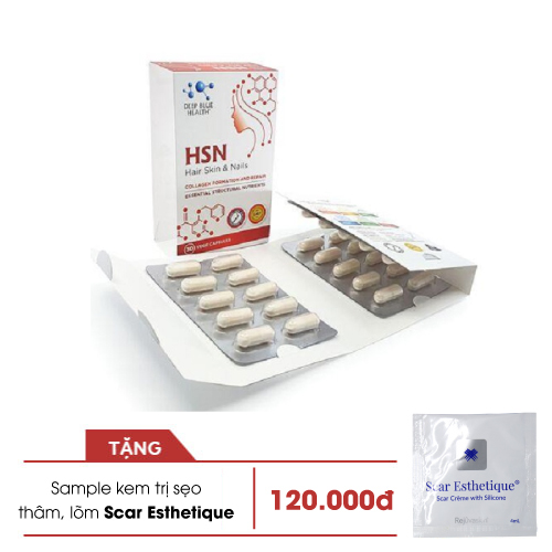 HSN Viên uống trị mụn không khô da