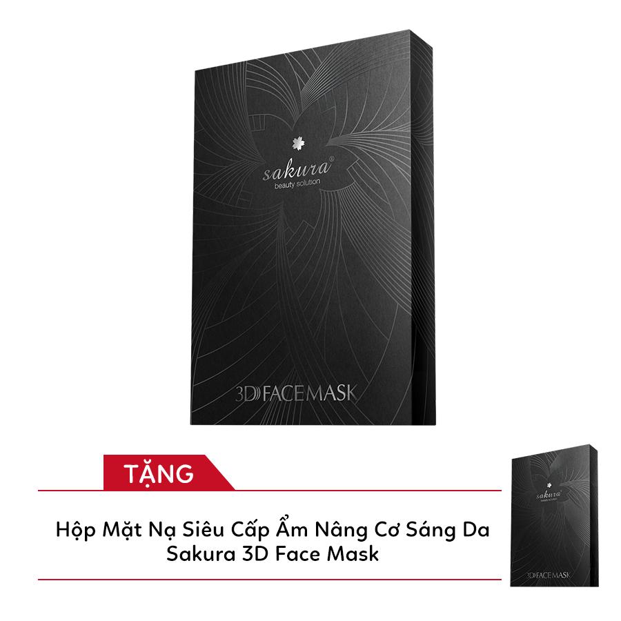Hộp Mặt Nạ Siêu Cấp Ẩm Nâng Cơ Sáng Da Sakura 3D Face Mask