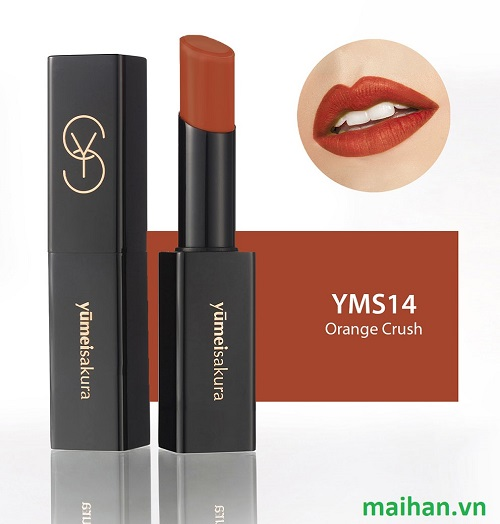 Son Lì Matte Revolution Yumeisakura YMS14 - Orange Crush - Cam Đất