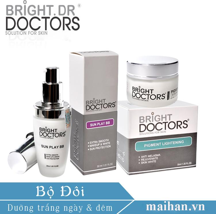 Bộ dưỡng trắng da mặt hoàn hảo ngày và đêm Bright.Dr Doctors