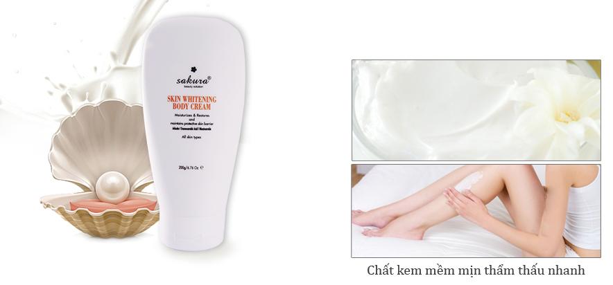 Kem Sakura Skin Whitening Body Cream L-Glutathione có bị dị ứng không?