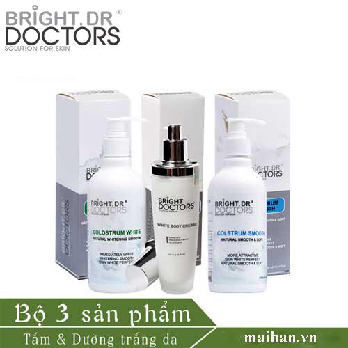 Bộ sữa non - tắm - ủ -dưỡng body Bright.Dr Doctors