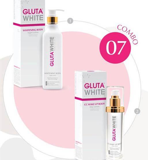 Bộ dưỡng thể trắng hồng toàn diện Gluta White