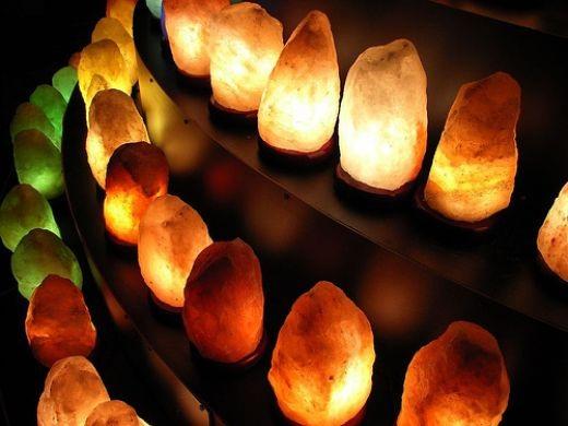 Image result for đèn đá muối
