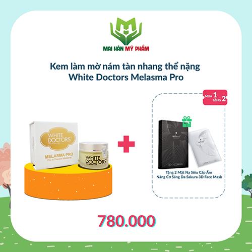 Kem làm mờ nám tàn nhang thể nặng White Doctors Melasma Pro