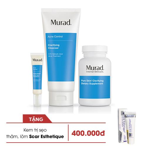 Liệu trình giảm mụn hoàn hảo từ trong ra ngoài Murad