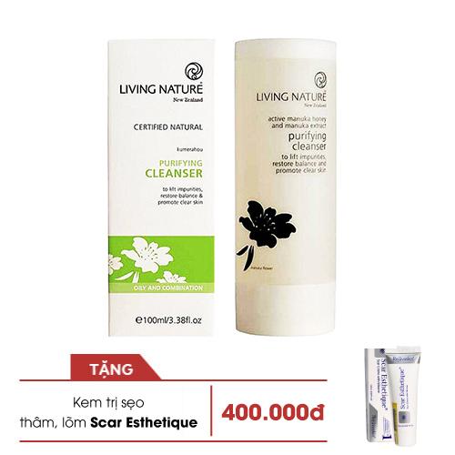 Sữa rửa mặt thanh lọc dành cho nam & nữ Purifying Cleanser Living Nature