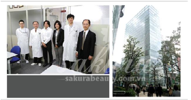 Đội ngũ y Bác sĩ chế tạo mỹ phẩm Sakura & trụ sở nhà máy sản xuất tại Nhật
