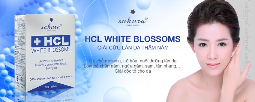 Viên uống hỗ trợ điều trị nám Sakura HCL Blossom giải pháp giúp bạn loại bỏ nám da, tàn nhang, đốm nâu