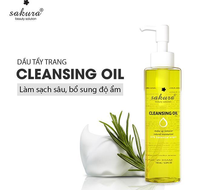 Dầu tẩy trang Sakura Cleansing oil - món quà từ thiên nhiên