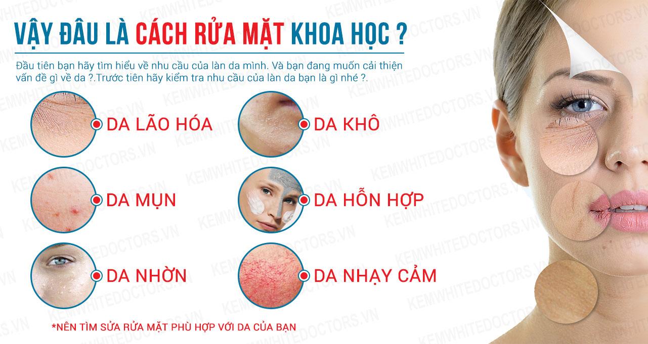 Rửa sạch da mặt một cách khoa học