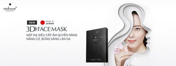 Mặt nạ nâng cơ cấp ẩm sáng da Sakura 3D Whitening Face Mask