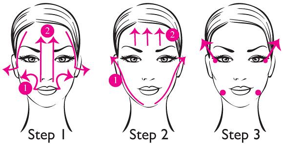 4 Bước 3 Cách mát xa da mặt - Làm đẹp hiệu quả