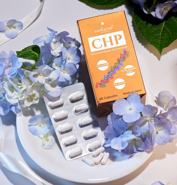 Viên uống dưỡng da CHP chống lão hóa cho da nhạy cảm