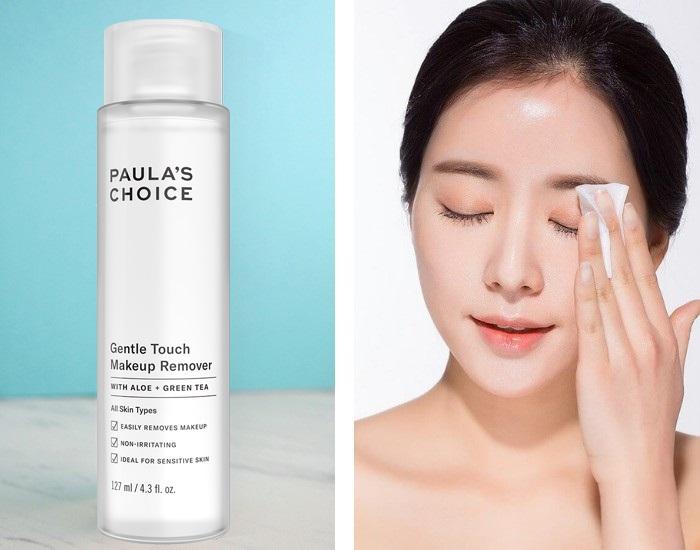 Chiết xuất từ thiên nhiên, Paula's Choice Gentle Touch Makeup Remover làm sạch mọi lớp trang điểm mà dịu nhẹ, an toàn với mọi vùng da