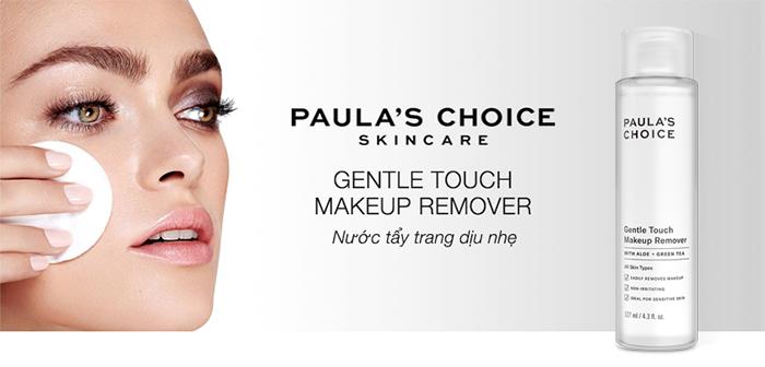 Paula's Choice Gentle Touch Makeup Remover cuốn sạch mọi lớp trang điểm cứng đầu