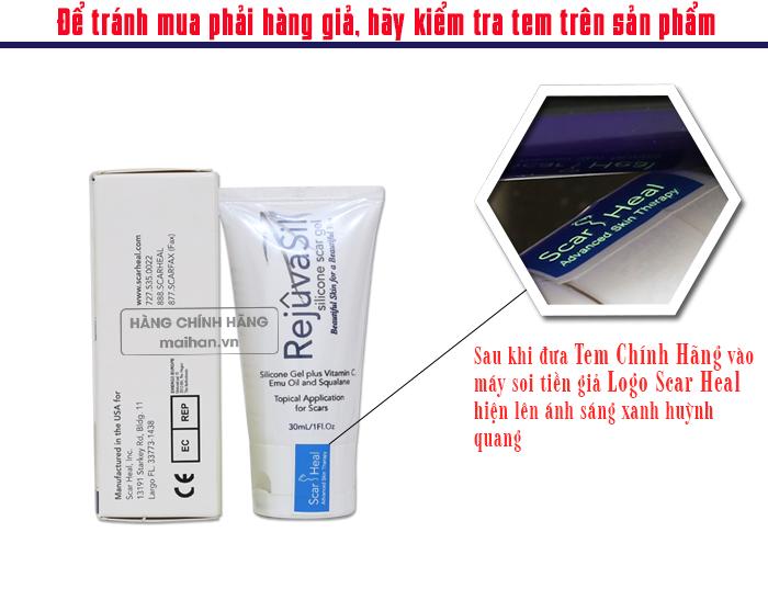 Cách phân biệt gel trị sẹo Scar Rejuvasil 30ml hàng thật và giả