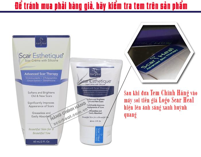 Cách phân biệt kem trị sẹo Scar Esthetique 60ml thật và giả
