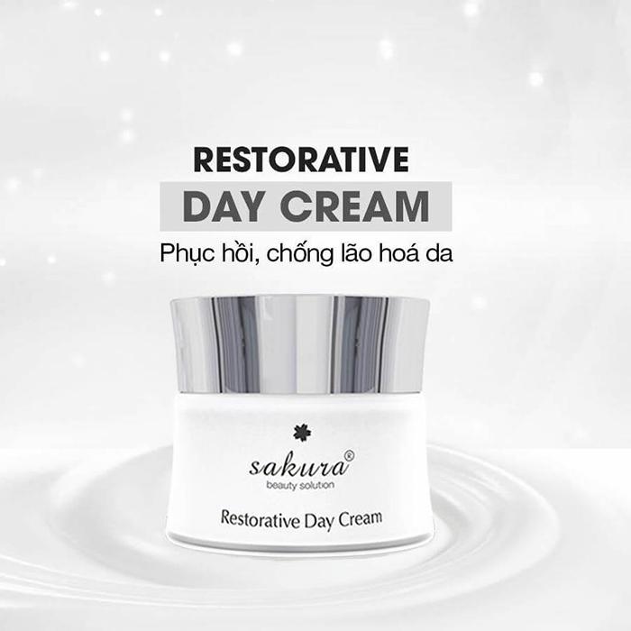 Kem dưỡng da phục hồi chống lão hoá ban đêm Sakura Restorative Day Cream