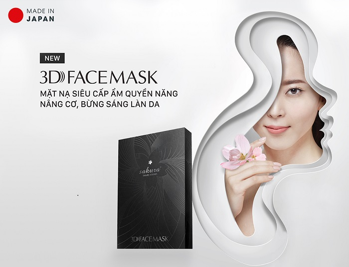 Mặt nạ siêu cấp ẩm nâng cơ sáng da Sakura 3D Face Mask