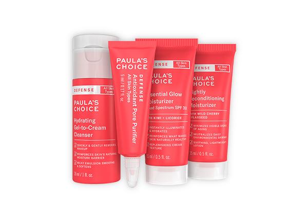 Trọn bộ sản phẩm Defense gồm 4 bước cơ bản dành cho mọi loại da