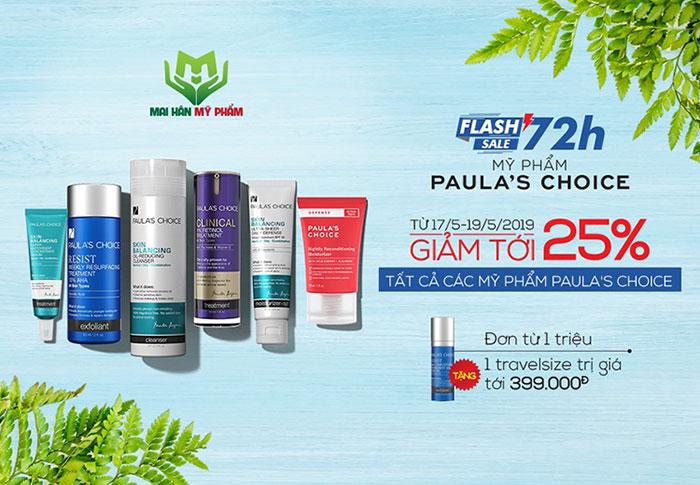 Paula's Choice ưu đãi lên tới 25% chỉ trong duy nhất 3 ngày
