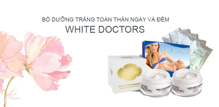Bộ sản phẩm dưỡng trắng da toàn thân White Doctors sự lựa của hàng trăm hotgirl nổi tiếng trong giới showbiz Việt