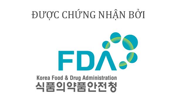 Sữa rửa mặt cho da nhạy cảm Sakura được kiểm nghiệm và xét duyệt bởi KFDA (Cục Quản lý thực phẩm và dược phẩm Hàn Quốc)