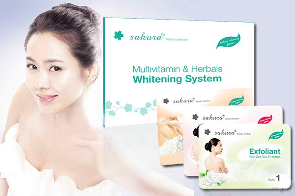 Kem tắm trắng tổng hợp thảo dược và vitamin Sakura