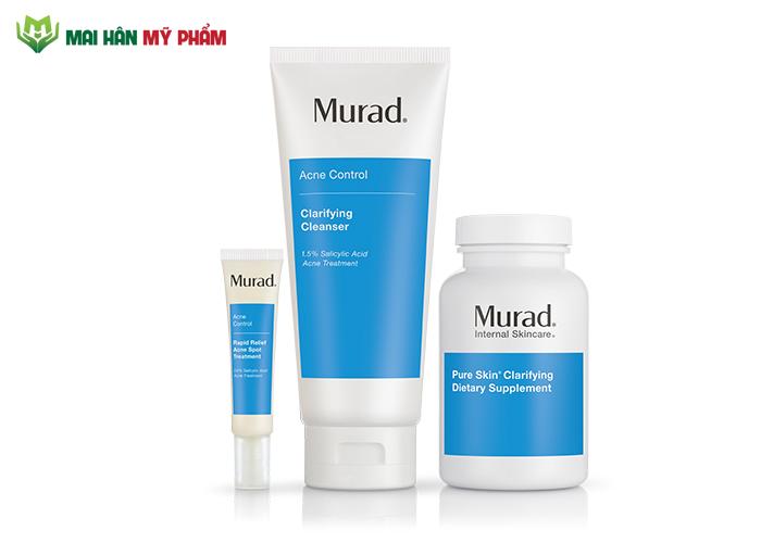 Trọn bộ chăm sóc da giảm mụn chuyên sâu Murad