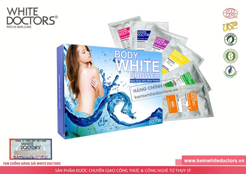 Kem tắm trắng 6 trong 1 White Doctors Body White Shower