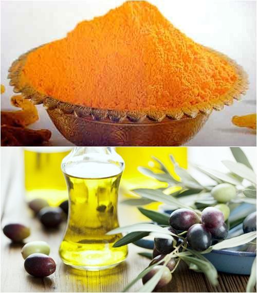 Bột nghệ và dầu olive