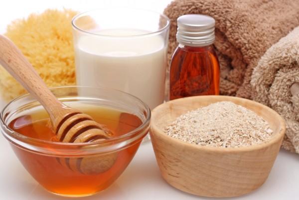 Công thức dầu oliu + táo + bột yến mạch