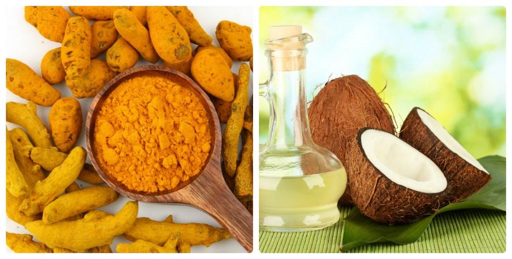 Cách làm trắng da bằng bột nghệ và dầu dừa