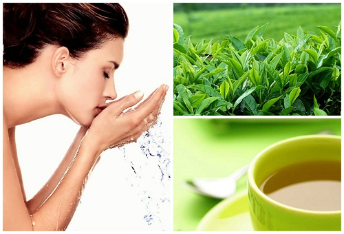 Cách trị mụn mủ sưng đỏ bằng nước lá trà xanh