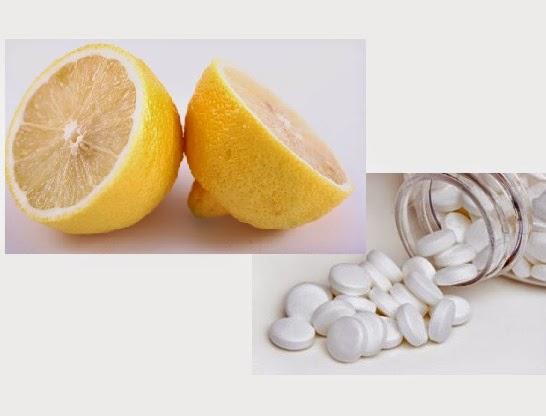 Hỗn hợp Aspirin và nước cốt chanh rất tốt đối với mụn nhiều, dày