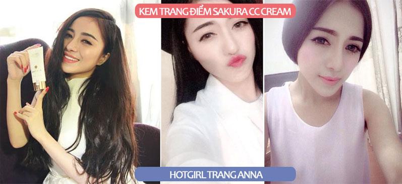 Chia sẻ của hot girl Trang Anna về dòng sản phẩm Sakura CC Cream