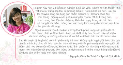 Chia sẻ của bạn Tú Trinh về Sakura CC Cream