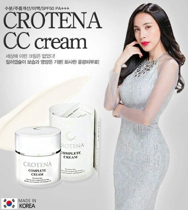 Bộ sản phẩm trang điểm chống nắng, ngăn ngừa lão hóa Crotena hình ảnh 4