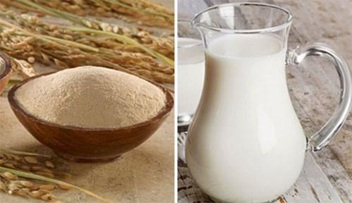 Mặt nạ cám gạo kết hợp với sữa tươi mang lại làn da tươi mới (hình minh họa)