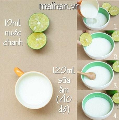 Trị mụn cám siêu dễ, siêu tiết kiệm bằng nước chanh và sữa ấm