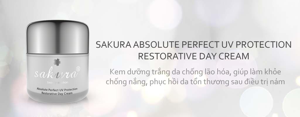 Kem dưỡng trắng phục hồi bán ngày Sakura Absolute Perfect UV Protection Restorative Day Cream