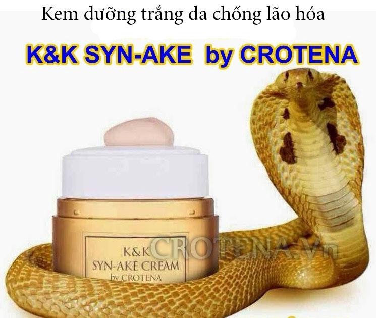 Huyết thanh nọc rắn - Thành phần đặc biệt trong kem dưỡng trắng da ban đêm Crotena Syn Ake Cream