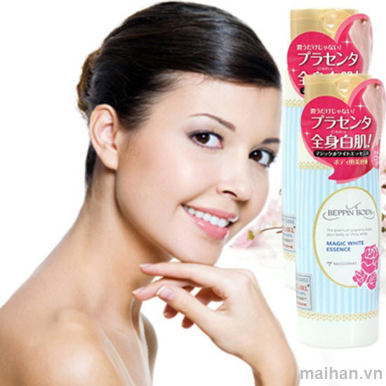 ữa dưỡng trắng mịn và giữ ẩm toàn thân Magic White Esence White Label chất lượng Nhật Bản