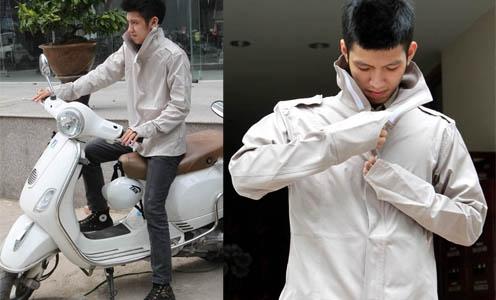 Để bảo vệ cho làn da, trước khi ra đường, các anh nên thoa kem chống nắng và mặc áo khoác chống nắng