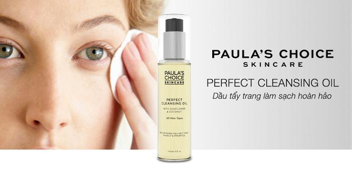 Dầu tẩy trang Paula's Choice Perfect Cleansing Oil làm sạch mọi lớp trang điểm lì lợm nhất