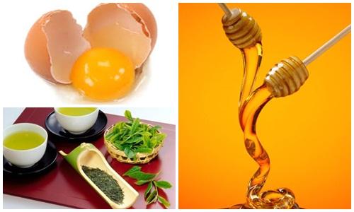 Hỗn hợp kem dưỡng trắng da toàn thân từ trứng, mật ong và trà phù hợp da khô và bình thường