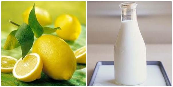 Kết hợp chanh cùng sữa tươi mang lại cho da sự mềm mịn và khỏe khoắn