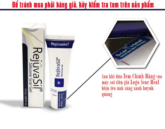 Cách phân biệt gel trị sẹo Rejuvasil hàng thật và nhái, giả